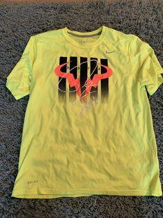 newest 0eada 7a156 Nike Mens Rafael Nadal Neon Yellow Dri-fit Sz. Large  fashion  clothing