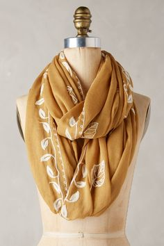 Embroidered Beanstalk Scarf | Pinned by topista.com