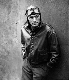 gregory peck wearing aviator goggles. cool created.