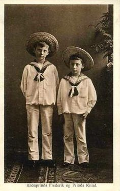 Crown Prince Frederik of Denmark with his brother Knud
