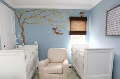 Furniture placement for small twin nursery