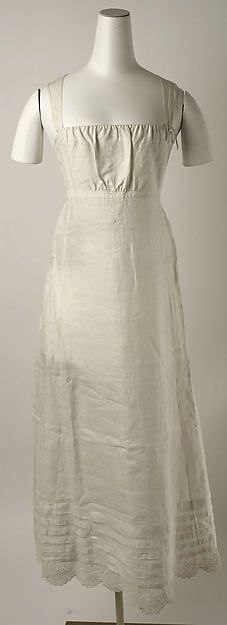 Petticoat Date: early 19th century Culture: American Medium: linen Dimensions: [no dimensions available] Credit Line: Gift of Mrs. George Nichols, 1964 Accession Number: C.I.64.26.3