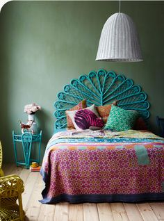 images for colorful ideas decorating wicker headboard