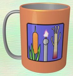 Typha Latifolia, Candle, Aralia Cordata Mug / #Tableware