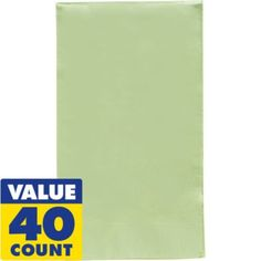 Leaf Green Guest Towels 40ct - Party City