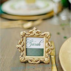 金色巴羅克席位卡高端酒店餐桌佈置SZ062回贈小禮品 皇家婚禮小物Beter Gifts®