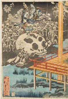 The ghosts of the Minamoto appearing in Fukuhara Palace Tōkyō, 1830 - 1840