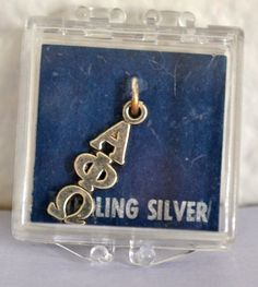 Sterling Silver SORORITY Pendant Alpha/Phi/Omega by ESTATENOW, $9.50