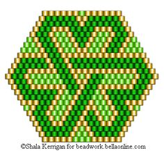 Brick Stitch St. Patrick's Day Pin Patterns - Beadwork