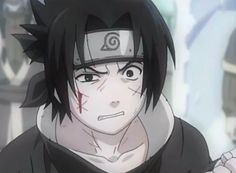 Sasukes reaction to Naruto sneaking in to Haku's jutsu