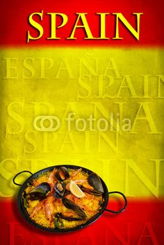 Spanish flag with paella