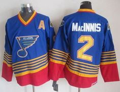 """$35.88 at """"MaryJersey""""(maryjerseyelway@gmail.com) Blues 2 Al MacInnis Light Blue with Red CCM Throwback Stitched NHL Jersey"""