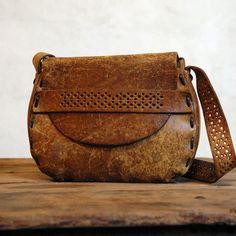 1970s Leather Bag // Vintage Bohemian Purse $225