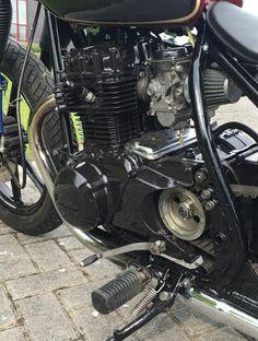 KZ440 bobber by Jf Helie KZ 440 Kawasaki custom t