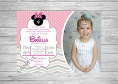 Minnie Mouse Birthday Invitation Printable by TwoAngelsDesigns