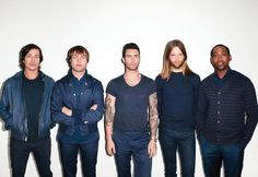 Maroon 5 with tour member PJ Morton (Jesse Carmichael is taking a break from the band)