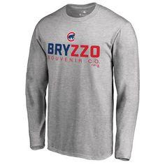 Men's Chicago Cubs Fanatics Branded Heather Gray Bryzzo Souvenir 2 Long  Sleeve T-Shirt