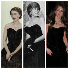 Elizabeth II, Princess Diana, Kate- and if I remember correctly Diana was criticized for wearing black ;)