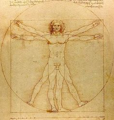Hier een erg bekende tekening van de Italiaan Leonardo Da Vinci. Hij was een van de belangrijkste en bekendste homo-universalissen uit de geschiedenis.
