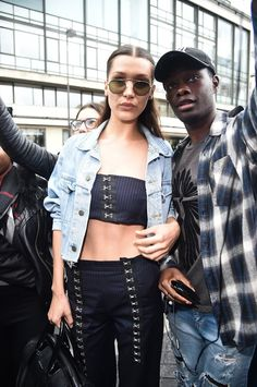 Pin for Later: Bella Hadid Stole This Styling Trick Straight From Her Sister