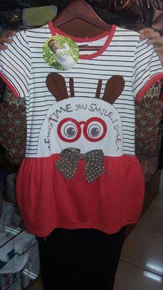 Terusan kaos merk cuty fun Harga Rp 132.500 Ukur 4/8