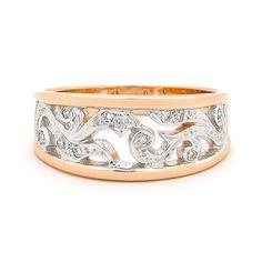 Diamond filigree ring - rose gold