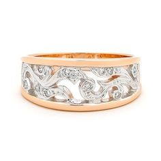Jewellery: ring, detailing (filigree), rose gold