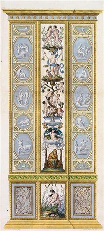 Raphael Pilaster 11). Allegory of Winter. Raphael Sanzio d'Urbino (1483-1520) (after) Ludovico Teseo (intermediate draftsman) Giovanni Volpato (1740-1803) (engraver) Frescoed Pilasters from Loggia di Rafaele nel Vaticano [Loggia of Raphael in the Vatican] _BM