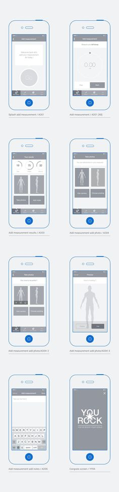 Bodytrack.it - An iOs app - Branding, UX and UI by Grégoire Vella, via Behance. If you like UX, design, or design thinking, check out theuxblog.com