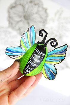 alisaburke: butterfly easter eggs