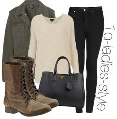 inspired look with brown combat boots by perrie-edwards-outfits ? likedon Polyvore