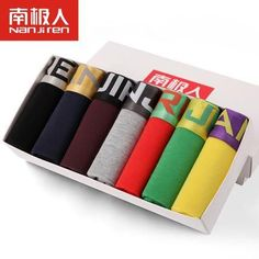 Week Pants Antarctic Men's Underwear Sexy Young Male Pants Cuecas Shorts Modal Boxer Mens Underwear Corners Belts Gift Box