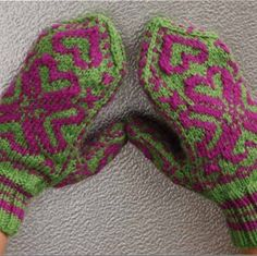 Knitting mittens is a great way to spend a cold and rainy afternoon.  These Wicked Knit Mittens, for example, are fun to make and show off!  Combine whatever two colors you like, although the neon pinks and greens look great together!