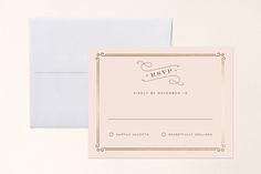 Art Deco Filigree Foil-Pressed RSVP Cards