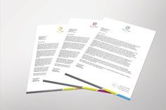 Corporate Letterhead  With Ms Word  Stationery Templates And