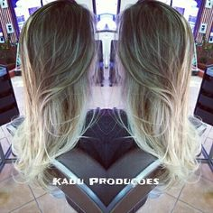 Sombre Hair feito por mim e pela profissional Erika