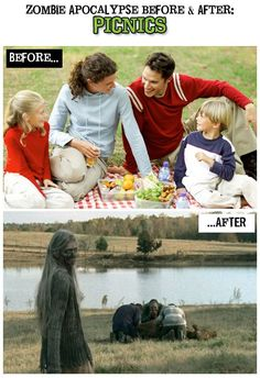 Zombie Apocalypse Before & After - http://www.dravenstales.ch/zombie-apocalypse-before-after/