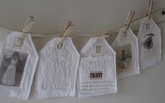 """HOUSE"" Garland hanging 