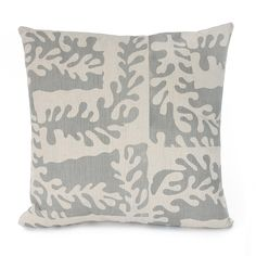 Sealeaf cushion printed in Pale Grey. Printed Cushions, Throw Pillows, Grey, Prints, Gray, Cushions, Decorative Pillows, Decor Pillows, Repose Gray