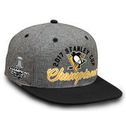 Pittsburgh Penguins Fanatics Branded 2017 Stanley Cup Champions Snapback Adjustable Hat - Gray