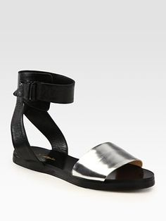 3.1 Phillip Lim - Metallic Leather Sandals - Saks.com