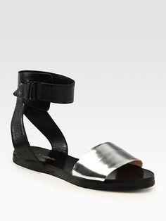 3.1 Phillip Lim - Metallic Leather Sandals - Saks.com