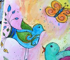 Art Journal - Detail of Blue Bird