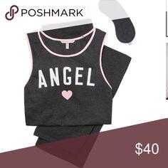 VS pillow talk tank pjs's angel grey & pink Brand new in package.  3 piece pj set.  Size medium long.  Pet free smoke free posher. Victoria's Secret Intimates & Sleepwear Pajamas