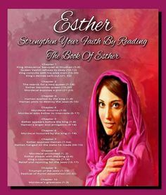Strengthen Your Faith By Reading The Book Of Esther Chapter 1 King Ahasuerus' banquet at Shushan (1-9) Queen Vashti refuses to obey (10-12) King consults with his wise men (13-20) King's decree sent out (21, 22) Chapter 2 The search for a new queen (1-14) Esther becomes queen (15-20) Mordecai exposes a plot (21-23) Chapter 3 Haman exalted by the king (1-4) Haman plots to destroy the Jews (5-15) Chapter 4 Mordecai mourns (1-5) Mordecai asks Esther to intercede (6-17) Chapter 5 Esther appears…