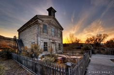 old school house in Bannack, Montana