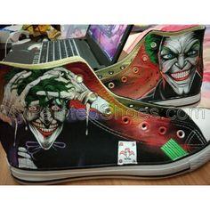46cf05d8fd56 Joker Hand Painted Converse Shoes Custom Joker Converse All Star