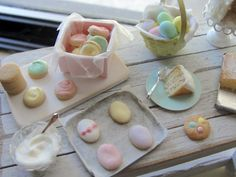 Dollhouse miniature Easter baking set cookies and cake by Kimsminibakery on Etsy