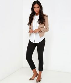 Paring Blazer with Ankle Length Pants
