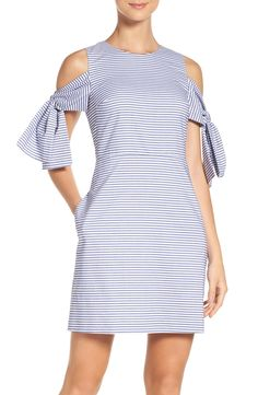 Cold-Shoulder Shift Dress - Health and wellness: What comes naturally Simple Dresses, Casual Dresses, Summer Dresses, Dress Outfits, Fashion Dresses, Vacation Dresses, Nordstrom Dresses, Look Fashion, African Fashion